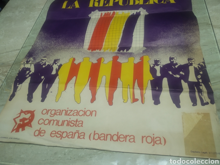 Carteles Políticos: Cartel República comunista de España bandera roja - Foto 8 - 204709833