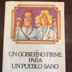 Carteles Políticos: PROGRAMA ELECTORAL PSOE. PARTIDO SOCIALISTA OBRERO ESPAÑOL. ELECCIONES GENERALES 1979. Lote 204802193