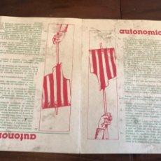 Carteles Políticos: ELECCIONES MUNICIPALES 1979 ESTATUTO DE AUTONOMÍA. Lote 204807036