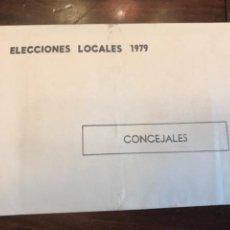 Carteles Políticos: PAPELETA ELECTORAL UCD ELECCIONES1979 EN SU SOBRE SIN ABRIL. Lote 204819002