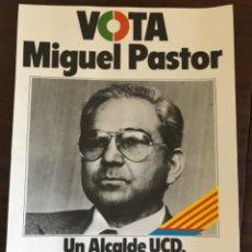 Carteles Políticos: PANFLETO ELECTORAL UCD ELECCIONES MUNICIPALES 1979. Lote 204968605
