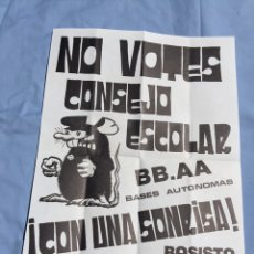 Carteles Políticos: ANTIGUO Y ORIGINAL CARTEL DE BASES AUTONOMAS,CENR,AÑOS 80,TRANSICION,TAMAÑO FOLIO. Lote 207229386