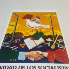 Carteles Políticos: CARTEL CAMPAÑA PSOE UNIDAD DE LOS SOCIALISTAS. Lote 207731562