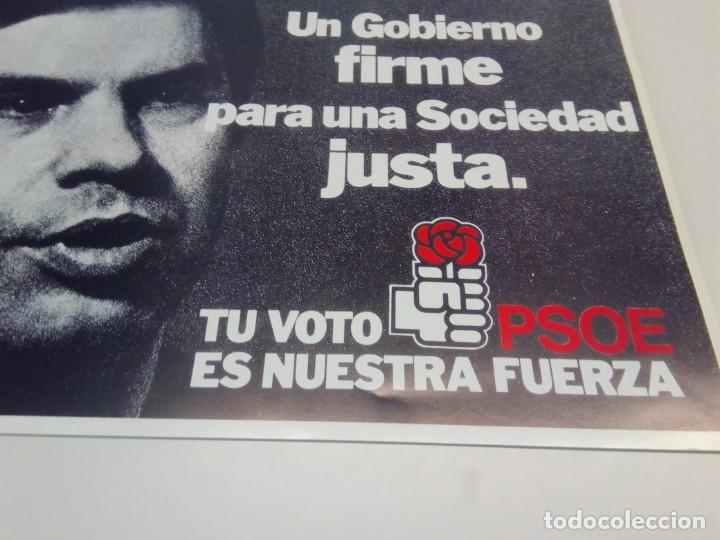 CARTEL CAMPAÑA PSOE TU VOTO ES NUESTRA FUERZA. (Coleccionismo - Carteles gran Formato - Carteles Políticos)