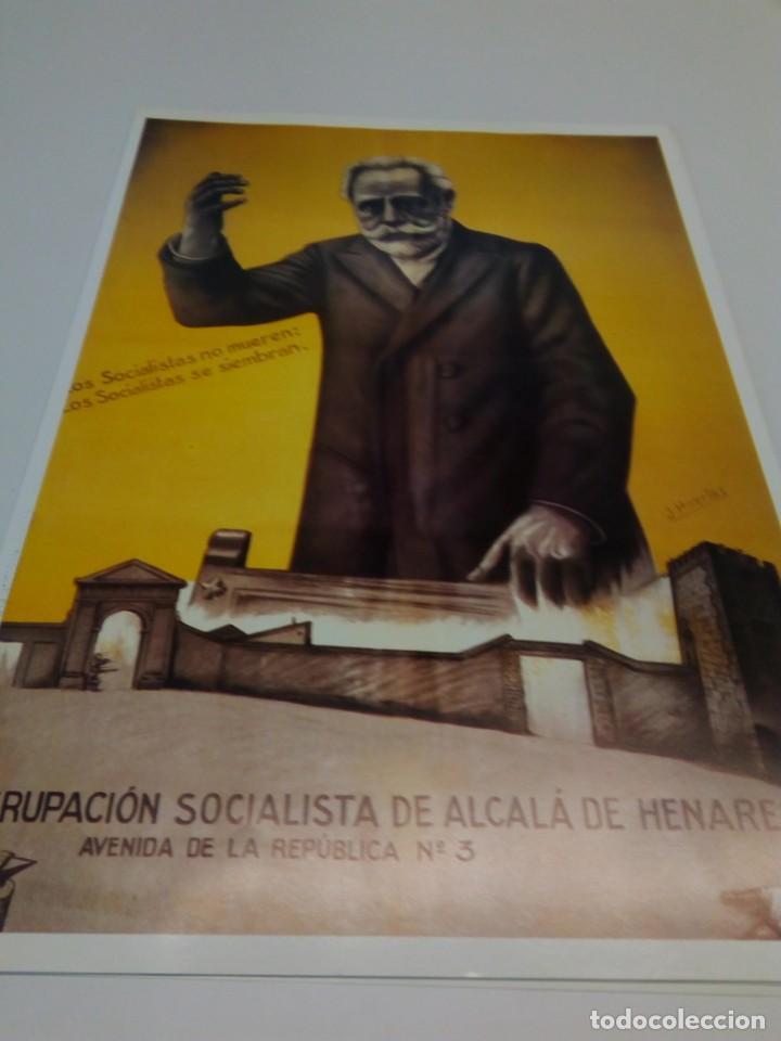CARTEL CAMPAÑA PSOE AGRUPACIÓN SOCIALISTA DE ALCALÁ DE HENARES (Coleccionismo - Carteles gran Formato - Carteles Políticos)