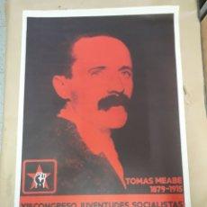 Carteles Políticos: CARTEL TOMAS MEABE JUVENTUDES SOCIALISTAS 1977. Lote 207893121