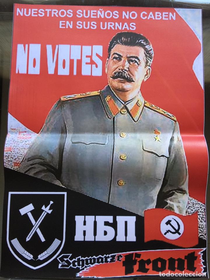 RARO CARTEL POLÍTICO DEL PARTIDO NACIONAL BOLCHEVIQUE,NO VOTES (Coleccionismo - Carteles gran Formato - Carteles Políticos)