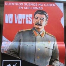 Carteles Políticos: RARO CARTEL POLÍTICO DEL PARTIDO NACIONAL BOLCHEVIQUE,NO VOTES. Lote 209766605