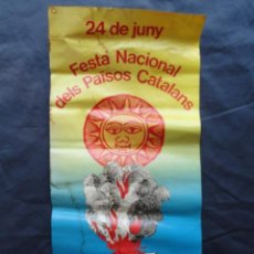 Carteles Políticos: POSTER CARTEL DE PAPEL FESTA NACIONAL PAÏSOS CATALANS 24/06/1980.. Lote 210473106