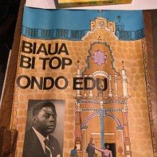 Carteles Políticos: ELECCIONES GUINEA ESPAÑOLA AÑO 1968 BONIFACIO ONDO EDÚ. PRIMER MINISTRO,GUINEA ECUATORIAL.60X40 CMS.. Lote 210952047