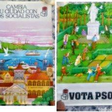 Carteles Políticos: 2 ANTIGUOS CARTELES ELECTORALES PSOE (1979). Lote 211421160