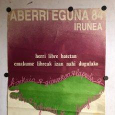 Carteles Políticos: ABERRI EGUNA 1984 IRUÑEA. CARTEL POLÍTICO DE LA IZQUIERDA ABERTZALE FEMINISTA (AIZAN).. Lote 212415573