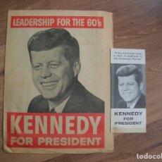 Carteles Políticos: MUY RARO CARTEL DE PROPAGANDA ELECTORAL ELECCIONES DE 1960. KENNEDY. JFK.. Lote 213509346