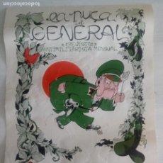 Carteles Políticos: LA PUÇA I EL GENERAL - REVISTA ANTIMILITARISTA MENSUAL - GANVA - 32 X 44 CMS - XALOC 1980. Lote 216362167