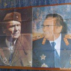 Carteles Políticos: PÓSTER CARTEL JOSIP BROZ TITO, ANTIGUA YUGOSLAVIA. 92X65,5 CMS. COMUNISMO. HISTÓRICO Y MUY RARO.. Lote 216757311