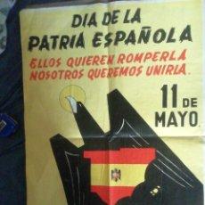 Carteles Políticos: CARTEL DE FUERZA NUEVA AÑOS 70. 71 X 49 CM. Lote 218729418
