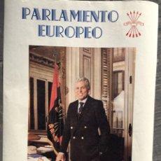 Carteles Políticos: RARO CARTEL FALANGISTA,FALANGE,FRANCO,DIEGO MÁRQUEZ FALANGE JONS,PARLAMENTO EUROPEO. Lote 219615906