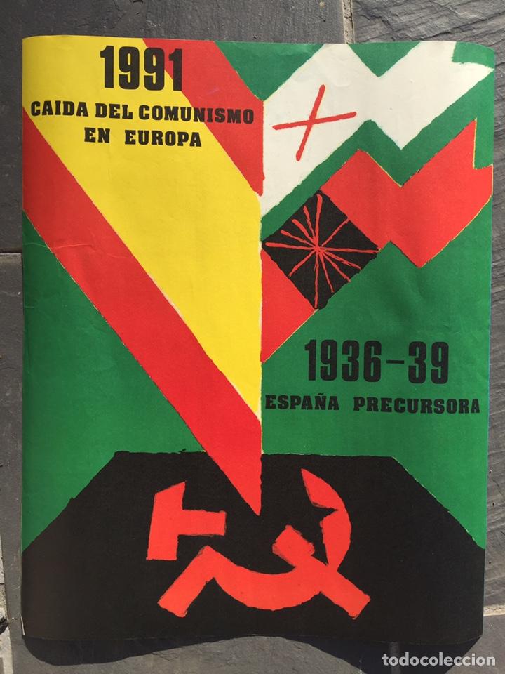 RARO CARTEL FALANGISTA,FALANGE,FUERZA NUEVA,EXCOMBATIENTES,TRANSICION (Coleccionismo - Carteles gran Formato - Carteles Políticos)