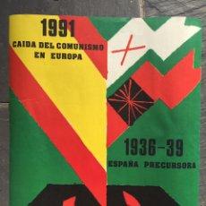 Carteles Políticos: RARO CARTEL FALANGISTA,FALANGE,FUERZA NUEVA,EXCOMBATIENTES,TRANSICION. Lote 219617271
