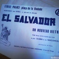 Affiches Politiques: CARTEL EL SALVADOR. UN NOUVEAU VIETNAM. ETUDES LEBERTAIRES. Lote 219482873