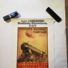 Affiches Politiques: CARTEL XIII CONGRESO FERROVIARIO. Lote 219964672