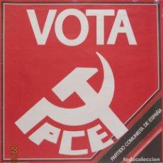 Affissi Politici: CARTEL ELECTORAL DEL PCE. Lote 224325471