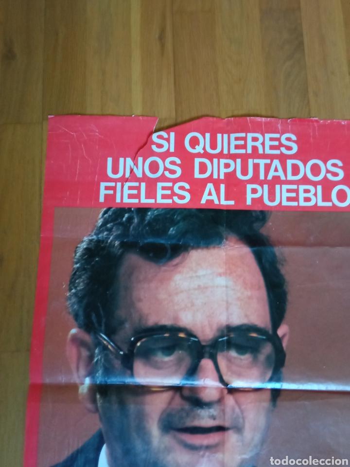Carteles Políticos: Cartel politico transición socialista.felipe González.psoe.psc.psp.ugt.pce.psuc.ccoo.ap.cds.ucd.ort. - Foto 2 - 225796840