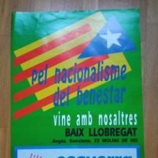 Carteles Políticos: CARTEL POLITICO TRANSICIÓN INDEPENDENTISTA CATALUNYA. ERC.CIU.MDT.PSUC.PSC.CUP.PSAN.TERRA LLIURE.CNT. Lote 225797566