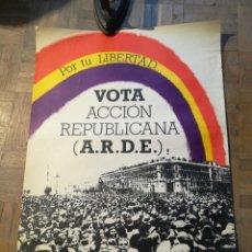 Carteles Políticos: CARTEL ACCIÓN REPUBLICANA. VOT. A. R. D. E.. Lote 226425215