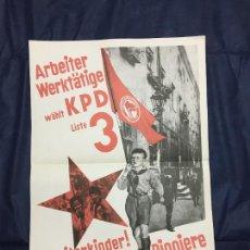 Carteles Políticos: MAX GEBHARDT. ARBEITERKINDER, WERDET JUNGE PIONIERE. DE LA CARPETA PLAKATKUNST IM KLASSENKAMPF, 1974. Lote 227958155
