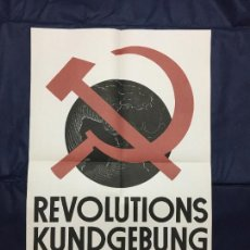 Carteles Políticos: REVOLUTIONSKUNDGEBUNG. 1931. DE LA CARPETA PLAKATKUNST IM KLASSENKAMPF, 1974. Lote 227959015