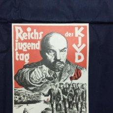 Carteles Políticos: ALEX KEIL (SÁNDOR EK). REICHSJUGENDTAG DES KJDW. DE LA CARPETA PLAKATKUNST IM KLASSENKAMPF, 1974. Lote 227959455