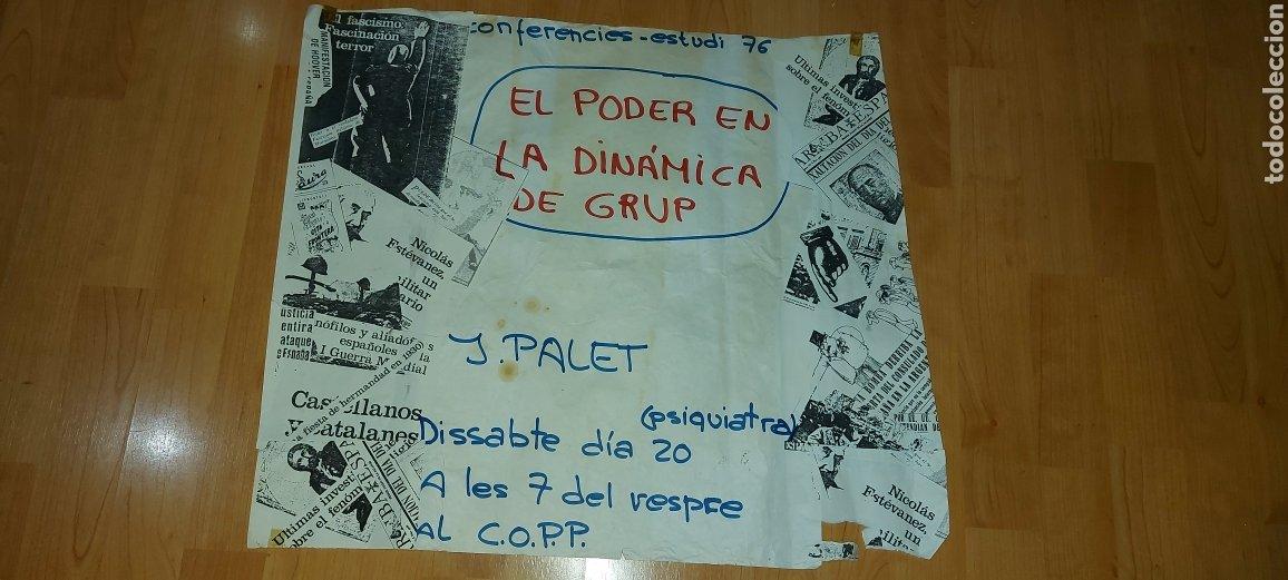CARTEL POLÍTICO CORP J. PALET 1976 EL PODER EN LA DINÀMICA DE GRUP (Coleccionismo - Carteles gran Formato - Carteles Políticos)
