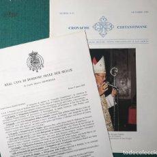 Carteles Políticos: BORBÓN DOS SICILIAS. CARTEL 1968, REVISTA ORDEN CONSTANTINIANA 1999. Lote 49051788