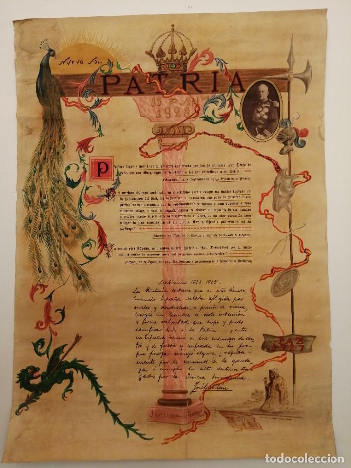 CURIOSO CARTEL DICTADURA MIGUEL PRIMO DE RIVERA, 13 SEP. 1923-1927, IMP. ORTEGA VALENCIA, (71X51) (Coleccionismo - Carteles gran Formato - Carteles Políticos)