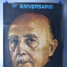 Carteles Políticos: 1º ANIVERSARIO MUERTE DE FRANCO, AÑO 1976, VALENCIA TE RECUERDA. Lote 234536115