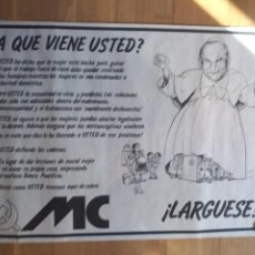 Carteles Políticos: CARTEL POLÍTICO TRANSICIÓN MC EMK MC-OIC. Lote 235931245