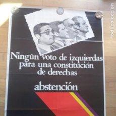 Carteles Políticos: CARTEL POLÍTICO TRANSICIÓN MC EMK MC-OIC. Lote 235931555