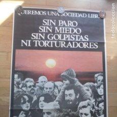Carteles Políticos: CARTEL POLÍTICO TRANSICIÓN MC EMK MC-OIC. Lote 235931720