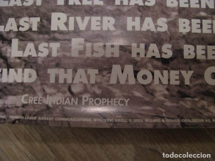 Carteles Políticos: PROFECÍA INDIA. ECOLOGIA, PAZ. CREE INDIAN PROPHECY. MODELO-SHAR LOPEZ, 2001 IMPRESO EN SUIZA. - Foto 3 - 237396105