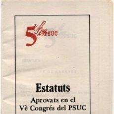 Affissi Politici: ESTATUTS PSUC 1981. Lote 237712930