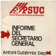 Affiches Politiques: FOLLETO PSUC 1978. Lote 237714610