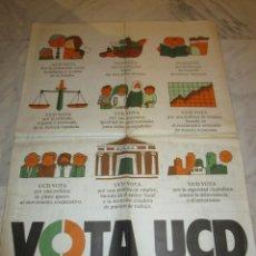 Carteles Políticos: 2892. VOTA UCD (50 X 70 CENTIMETROS) 1979. Lote 238501625
