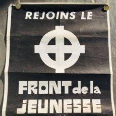 Affissi Politici: ANTIGUO CARTEL POLÍTICO NACIONAL REVOLUCIONARIO,CRUZ CÉLTICA,BÉLGICA,FASCISMO,COLECCIONISMO. Lote 240814195