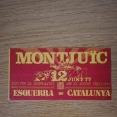 Affissi Politici: ELECCIONES GENERALES 1977. PROPAGANDA DE MÍTING DE ESQUERRA DE CATALUNYA. Lote 242101940
