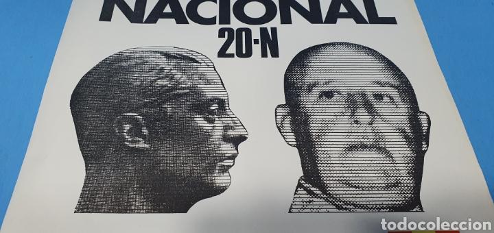 Carteles Políticos: CARTEL DE PROPAGANDA POLÍTICA - MARCHA UNIDAD NAL. 20-N - PZA. ORIENTE- MADRID 1976 IMAGEN FRANCO - Foto 2 - 242273260