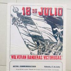 Carteles Políticos: RARO CARTEL FALANGE MONTAÑESA,FRANCO,TRANSICION. Lote 243661525