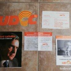 Affissi Politici: ELECCIONES GENERALES 1977. PROPAGANDA ELECTORAL UDCC (UNIÓ DEL CENTRE I LA DEMOCRÀCIA CRISTIANA CAT. Lote 244531105