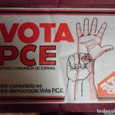 Affissi Politici: ELECCIONES GENERALES 1977.VOTA PARTIDO COMUNISTA DE ESPAÑA.MAGNIFICO CARTEL DEL P.C.E.IMPR.EN LEON.. Lote 253318630