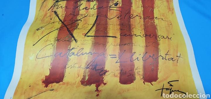 Carteles Políticos: CARTEL DE TAPIES - PSUC: PER CATALUNYA, LA DEMOCRÀCIA I EL SOCIALISME - GRÁFICAS EXCELSIOR 1976 - Foto 3 - 253638790